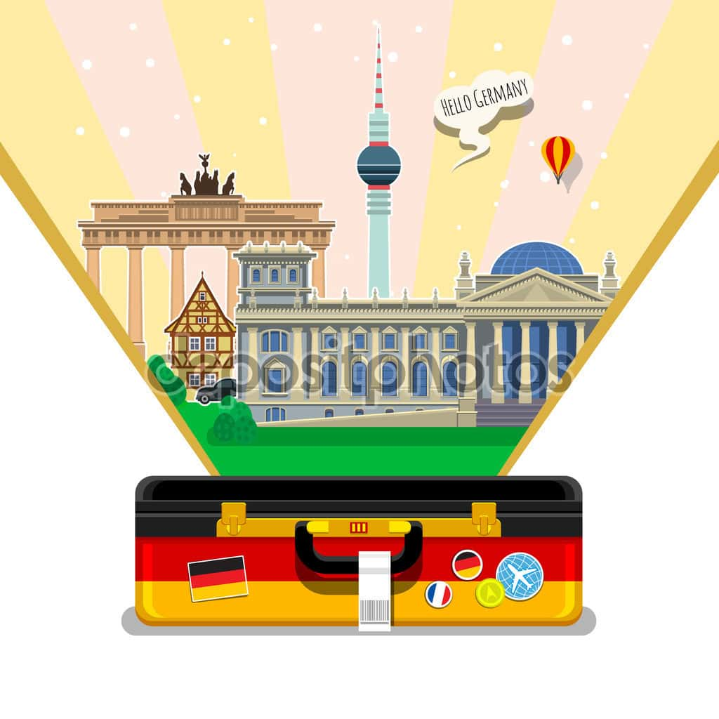 Concept of travel or studying German